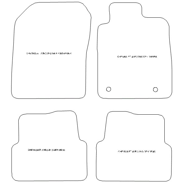 Chevrolet Aveo 2nd Gen Car Mats